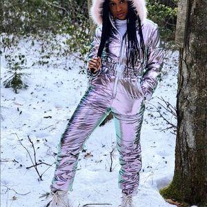Club Exx Holographic Snowsuit size S